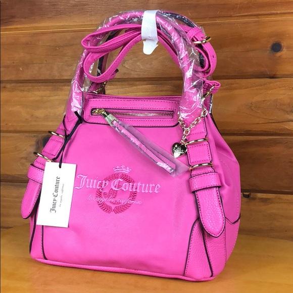 Juicy Couture Handbags - Juicy Couture 🌺 Pink Namesake Satchel Crossbody